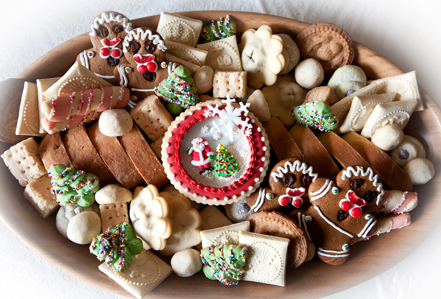 Christmas Cookie Trays All Sparkled Up
