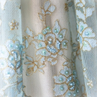 Gold Embroidered Sequin Lace