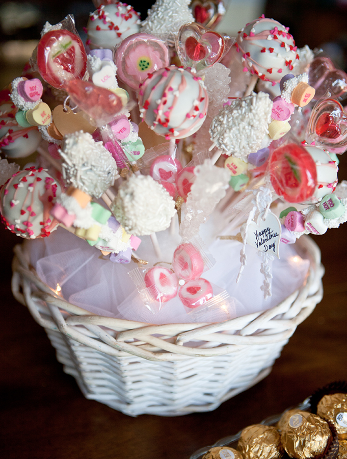 Valentine candy bouquet all sparkled up