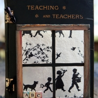 Altered Vintage Book - Teaching and Teachers