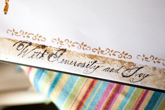 Calligraphy All Sparkled Up