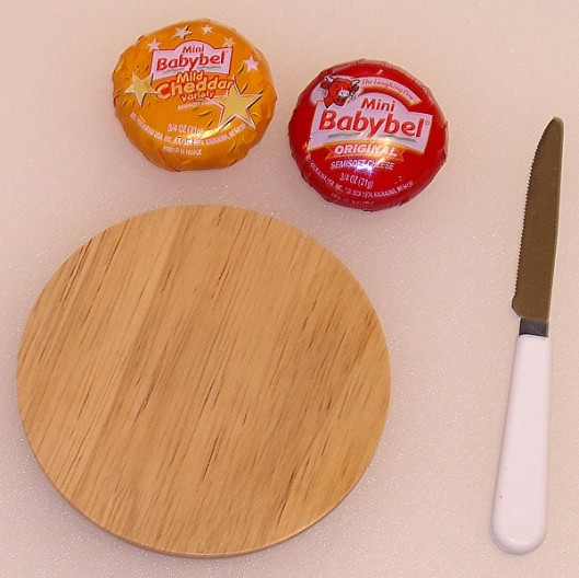 Cheeses for the tiny cheese tray
