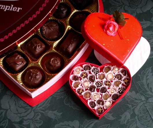 Happy Valentine's Day! Here is a miniature box of chocolates for you.