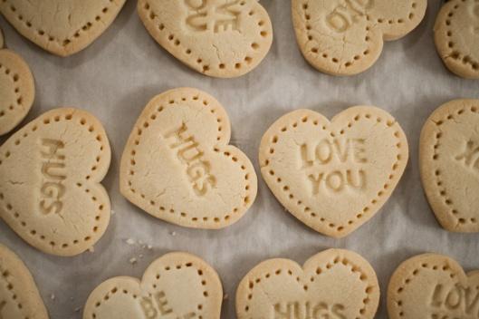 Valentine Shortbread Heart cookies