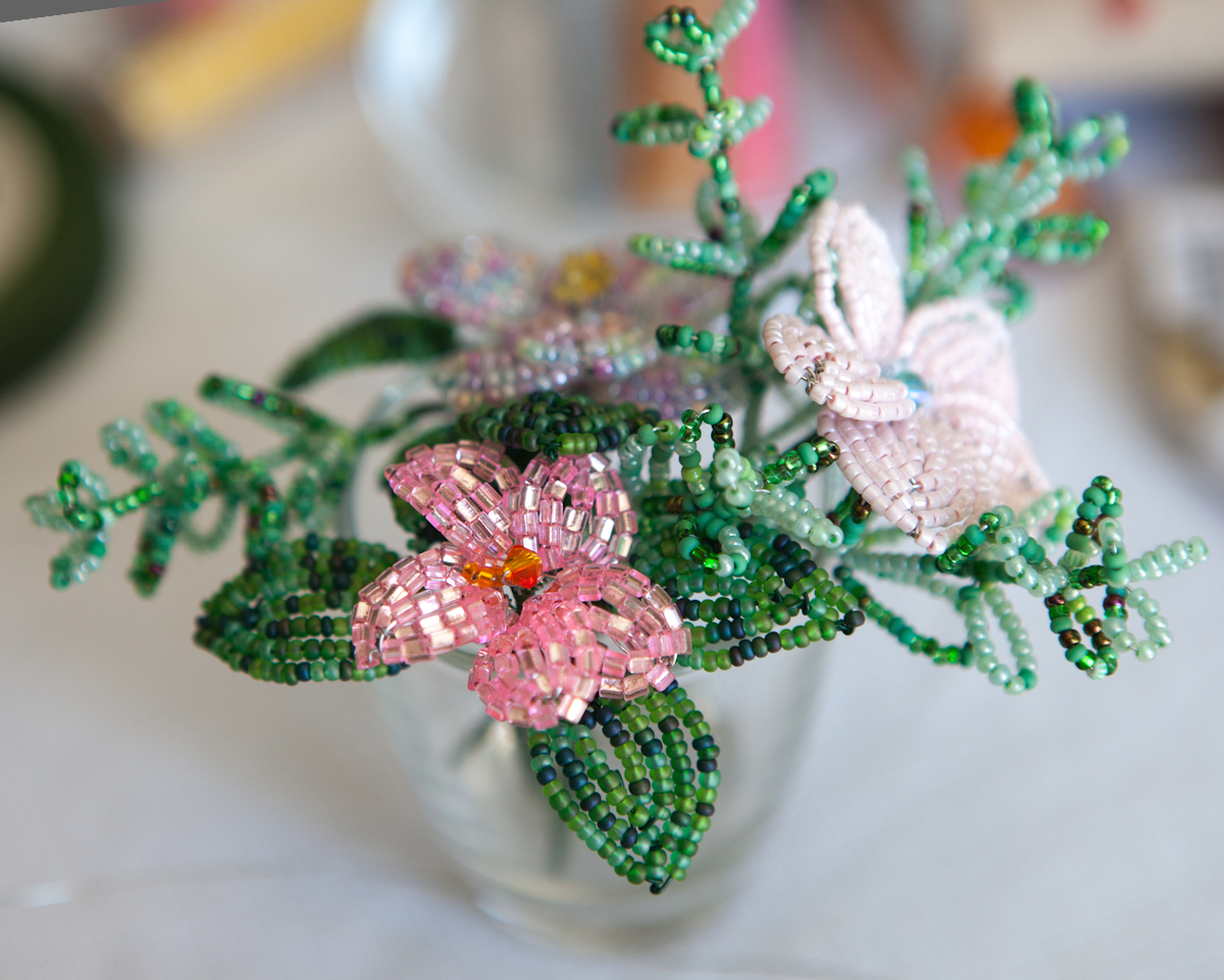 French Beaded Flowers All Sparkled Up