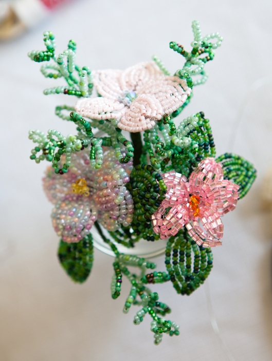 My first French Beaded flowers.