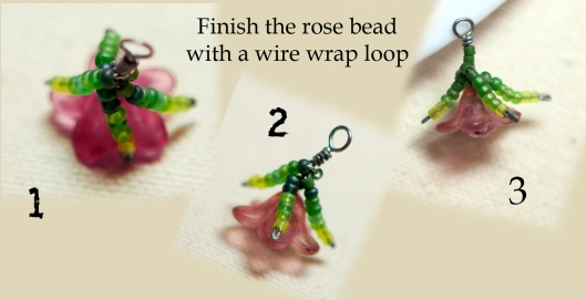 Moss Rose Bracelet Tutorial 10
