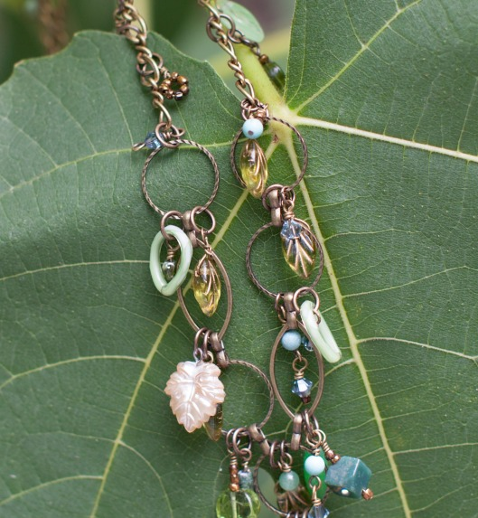 Leaf and Stone Necklace 5