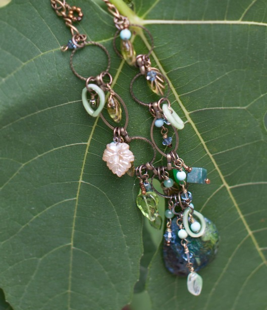 Leaf and Stone Necklace 6
