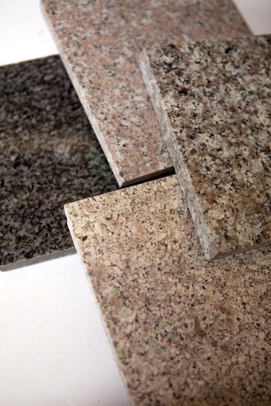 Granite tile samples