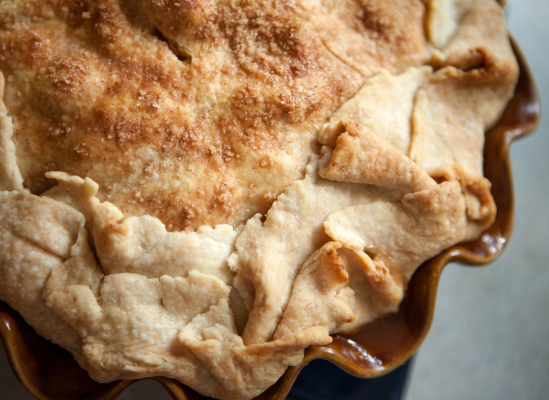 Just look at all that yummy pastry! Truly a crust-lover's pie.