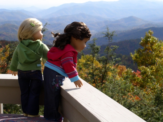 American Girl dolls in the Smoky Mountains