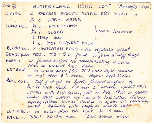 Butterflake Herb Loaf recipe