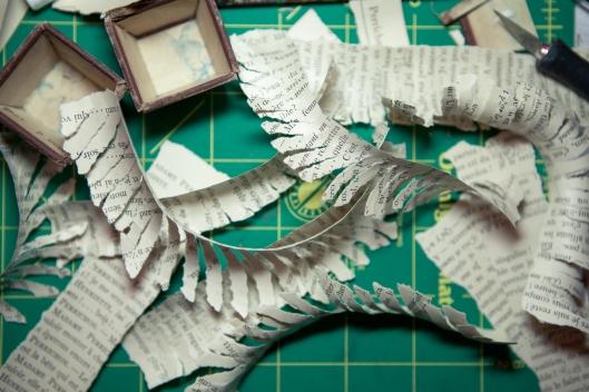Torn paper fringe.