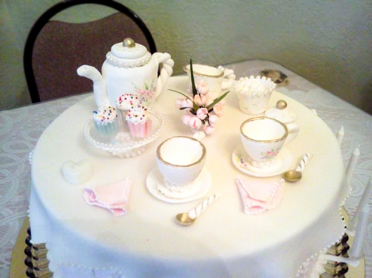 3 Pastillage Tea Set Cake