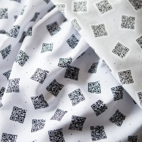 My QR code fabric was a success!