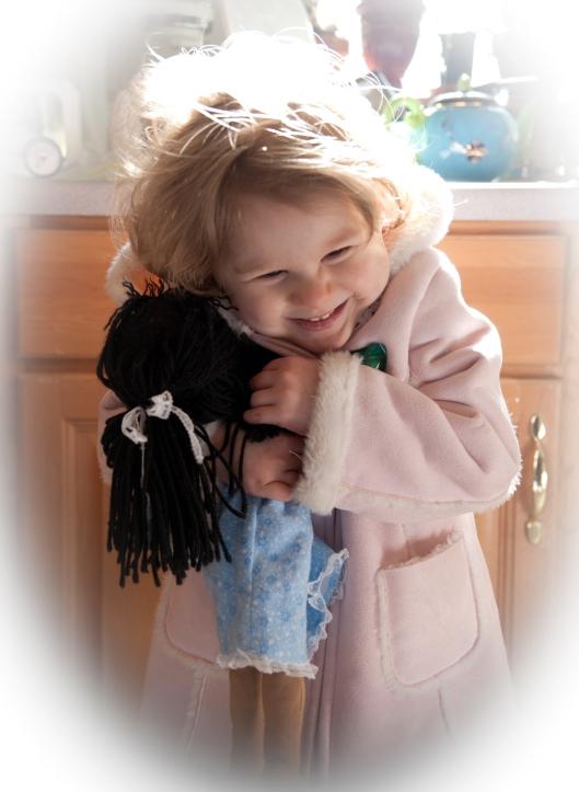 loving her dolly