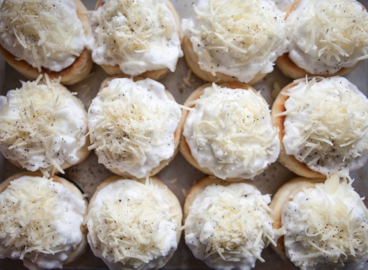 Try not to let the meringues touch so they can be separated easy after baking.