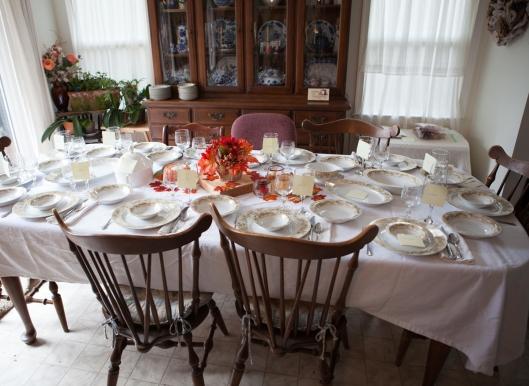 2 2014 Thanksgiving table set
