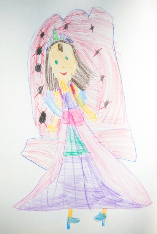 A Princess, by my seven year old granddaughter.