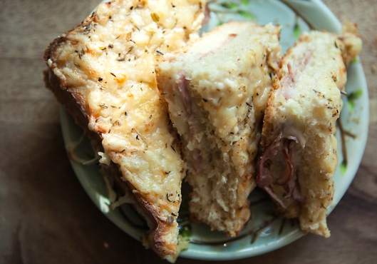 Oh I wish you could taste this Croque Monsieur hot from the oven!
