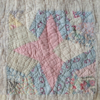 I went treasure hunting... INSIDE an old quilt!