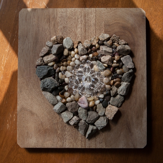 Stone and Crystal Heart.
