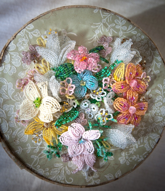 French Beaded Flowers.