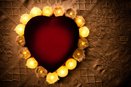Candle-lit heart