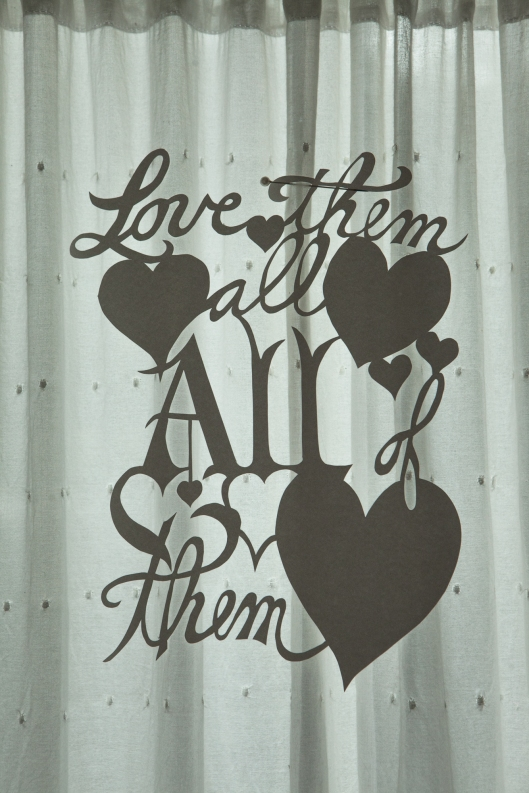 For the very last heart, I made a paper cutting. So simple and yet so deep. Love them all, ALL of them.