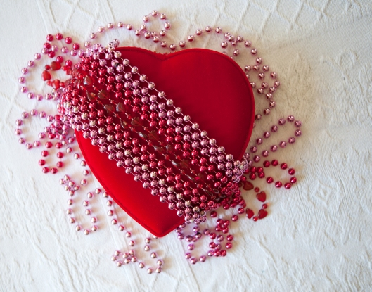 Beaded Heart, neat and tidy