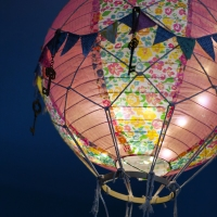 The Hot Air Balloon mobile has lights