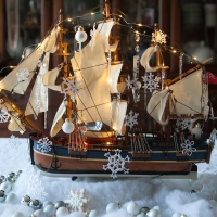 Christmas at Sea Tablescape